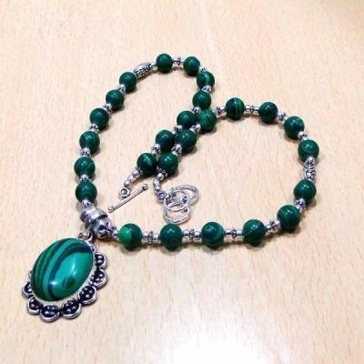 Mal 033b collier parure malachite achat vente bijoux argent 925 ethnique