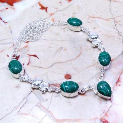 Mal 034a collier paruresautoir malachite achat vente bijou ethnique argent 925
