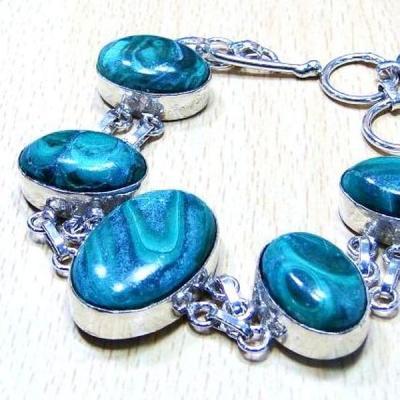 Mal 040b bracelet malachite achat vente bijou ethnique argent 925
