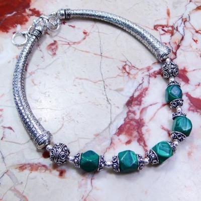 Mal 044a collier parure malachite achat vente bijoux argent 925 ethnique