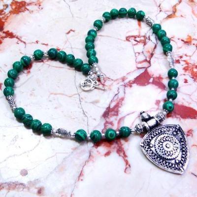 Mal 045a collier parure malachite achat vente bijoux argent 925 ethnique