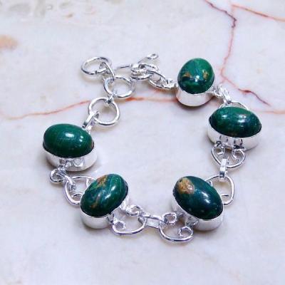 Mal 046a bracelet malachite achat vente bijou ethnique argent 925