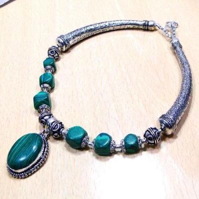 Mal 047a collier parure malachite achat vente bijoux argent 925 ethnique