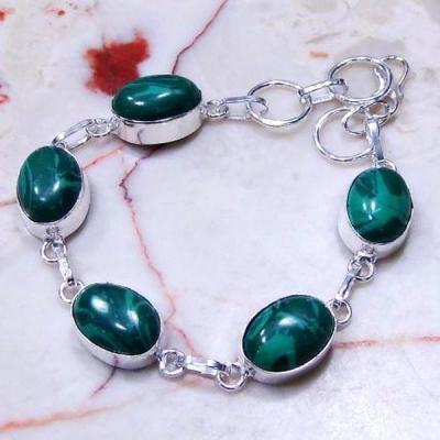 Mal 060b bracelet medieval antique malachite achat vente bijou ethnique argent 925