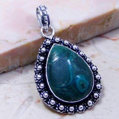 Mal 062c pendentif pendant malachite achat vente bijou argent 925