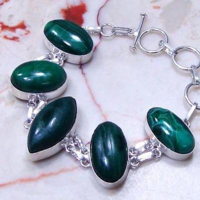 Mal 063b bracelet malachite medieval achat vente bijou ethnique argent 925