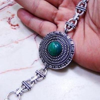 Mal 064b bracelet malachite medieval achat vente bijou ethnique argent 925