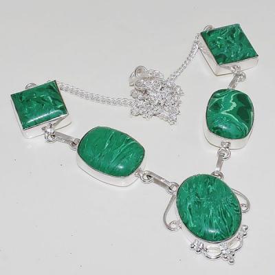 Mal 074a collier parure sautoir malachite achat vente bijou argent 925