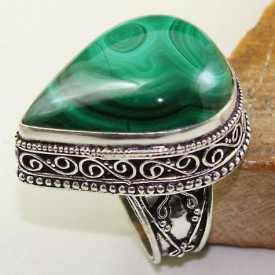 Mal 082a bague chevaliere t57 28mm malachite achat vente bijou argent 925