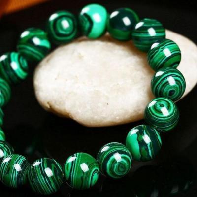 Mal 096c bracelet 10mm malachite achat vente bijou argent 925