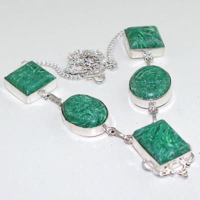 Mal 100a collier parure 20mm malachite achat vente bijou argent 925