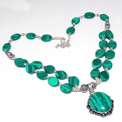 Mal 122a collier parure pendant 22x25mm malachite achat vente bijou argent 925