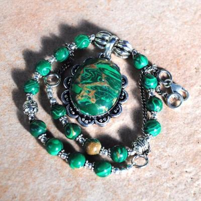 Mal 146d collier parure pendentif malachite achat vente bijou argent 925 jpg5