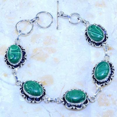 Mal 152a bracelet malachite achat vente bijou ethnique argent 925