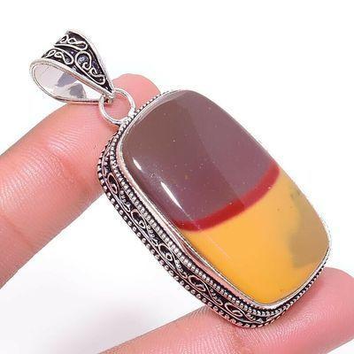 Mk 0003a pendentif pendant mokaite 22x40mm achat vente bijoux ethnique argent 925