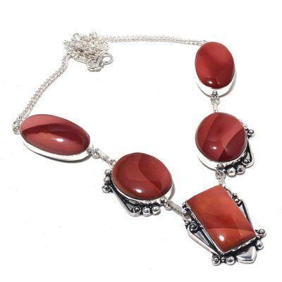Mk 0005a collier parure sautoir mokaite 17gr 15x30mm achat vente bijoux ethnique argent 926