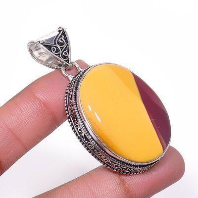 Mk 0007a pendentif pendant mokaite 20gr 25x35mm achat vente bijoux ethnique argent 925