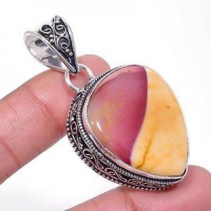 Mk 0014a pendentif pendant mokaite 15gr 25x30mm achat vente bijoux ethnique argent 925