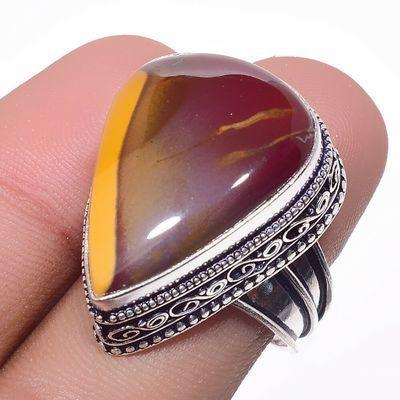 Mk 0021a bague chevaliere mokaite 13gr amande t59 18x28mm achat vente bijoux ethnique argent 925