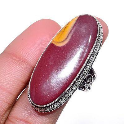 Mk 0024a bague chevaliere mokaite 15gr amande t60 15x40mm achat vente bijoux ethnique argent 925