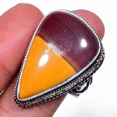 Mk 0028a bague chevaliere mokaite 14gr amande t60 20x30mm achat vente bijoux ethnique argent 926