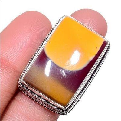 Mk 0033a bague chevaliere mokaite 15gr rectangle t59 18x28mm achat vente bijoux ethnique argent 925