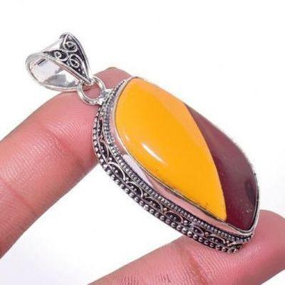 Mk 0039a pendentif pendant mokaite 16gr 20x40mm achat vente bijoux ethnique argent 925