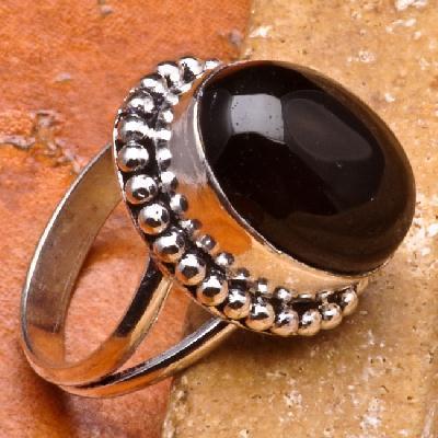 On 0162a bague 57 gemme onyx noir bijou 1900 art deco achat vente