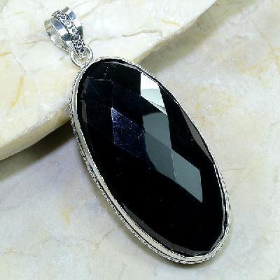 On 0280a pendentif onyx noir argent 925 achat vente
