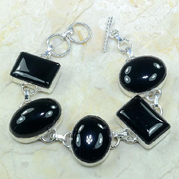 On 0281a bracelet onyx noir achat vente bijou argent 925