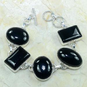 On 0281c bracelet onyx noir achat vente bijou argent 925