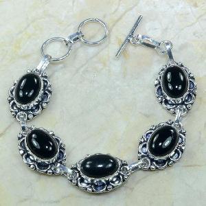 On 0282a bracelet onyx noir achat vente bijou argent 925