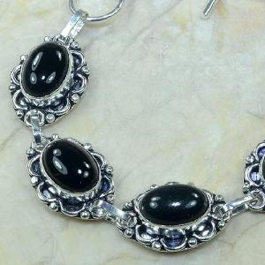 On 0282b bracelet onyx noir achat vente bijou argent 925