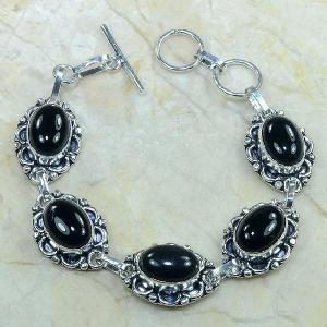 On 0282c bracelet onyx noir achat vente bijou argent 925