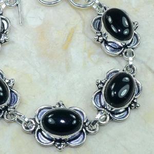 On 0283b bracelet onyx noir achat vente bijou argent 925