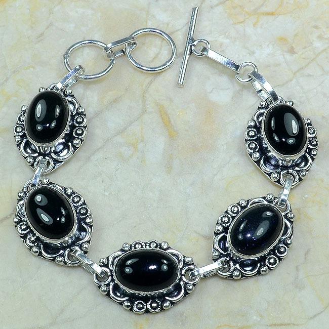 On 0284a bracelet onyx noir achat vente bijou argent 925