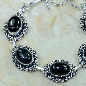 On 0284b bracelet onyx noir achat vente bijou argent 925