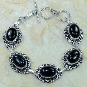 On 0284c bracelet onyx noir achat vente bijou argent 925