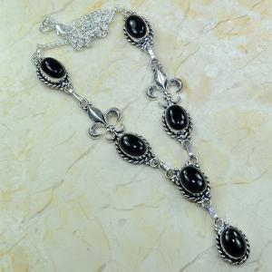 On 0285a collier onyx noir parure medieval 1900 achat vente