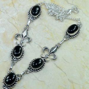 On 0285b collier onyx noir parure medieval 1900 achat vente