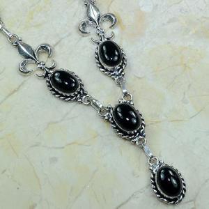 On 0285c collier onyx noir parure medieval 1900 achat vente