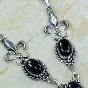 On 0285d collier onyx noir parure medieval 1900 achat vente