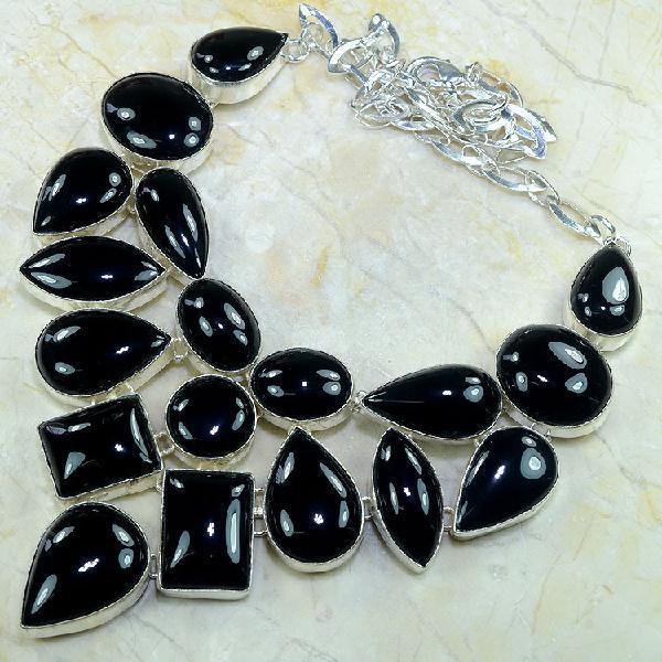 On 0287a collier parure onyx noir parure 1900 achat vente