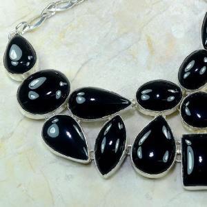 On 0287c collier onyx noir parure 1900 achat vente