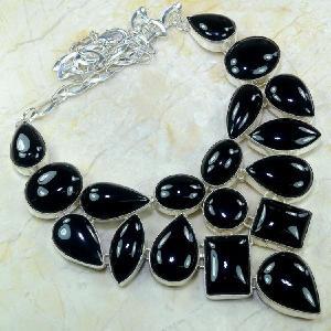 On 0287d collier onyx noir parure 1900 achat vente