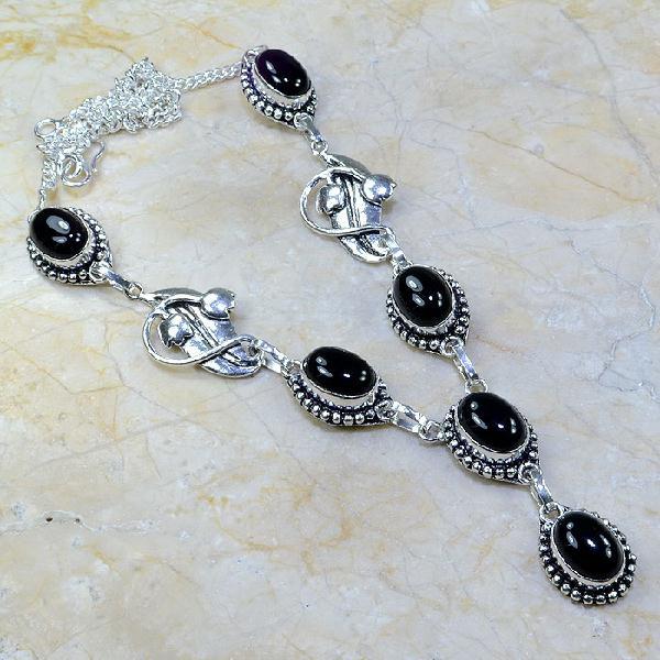 On 0291a collier sautoir onyx noir parure bijou 1900 art deco achat vente