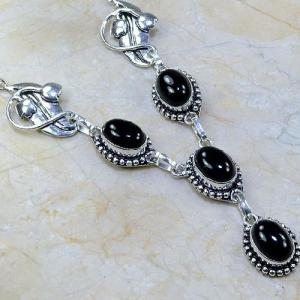 On 0291c collier sautoir onyx noir parure bijou 1900 art deco achat vente