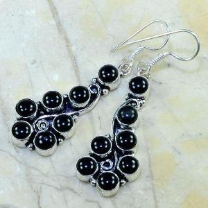 On 0292b boucles pendants oreilles onyx noir parure bijou 1900 achat vente