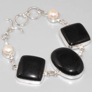 On 0296a bracelet onyx noir perle achat vente bijou argent 925