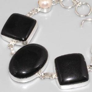 On 0296b bracelet onyx noir perle achat vente bijou argent 925